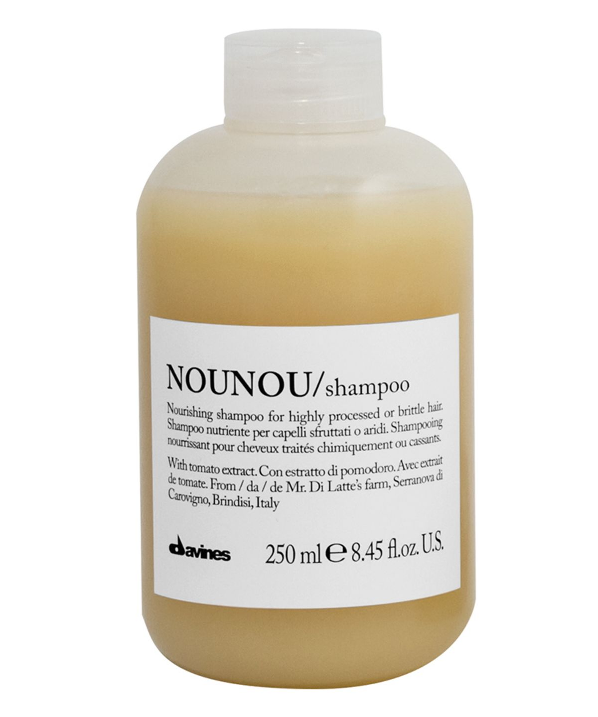 nounou nourishing shampoo for colour treated hair by davines. Black Bedroom Furniture Sets. Home Design Ideas