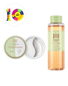 Cult Beauty Exclusive Pixi + Caroline Hirons Double Cleanse & Glow Tonic Duo