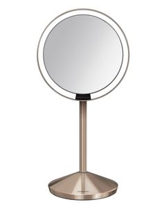 "Rose Gold Sensor Mirror 5"" (12cm)"