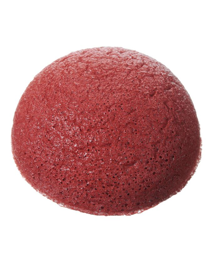 Pure konjac puff sponge with french red clay by the konjac for Sponge co uk