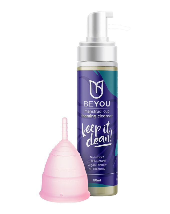 BeYou Menstrual Cup and Foaming Cleanser Duo