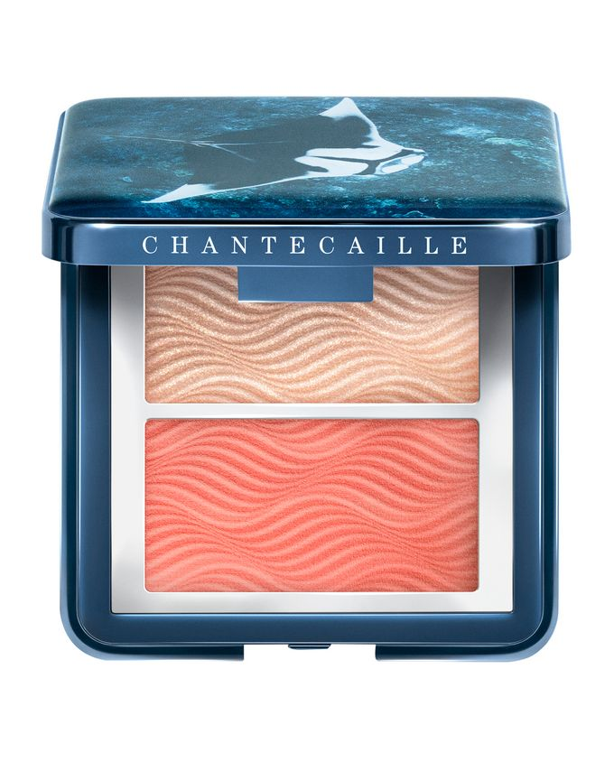 Chantecaille Vibrant Oceans Radiance Chic Cheek And Highlighter Duo Coral