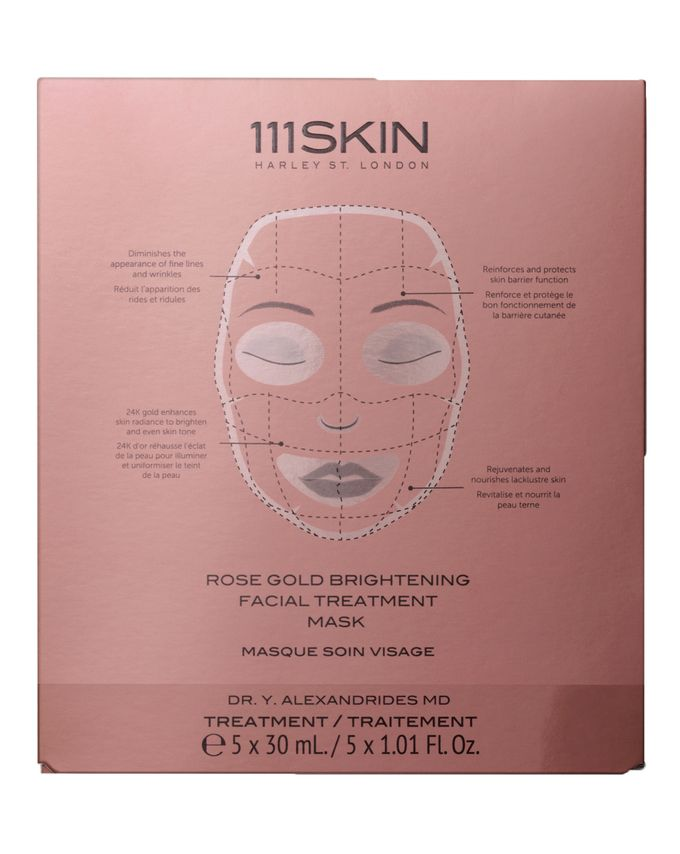 111SKIN Rose Gold Brightening Facial Treatment Mask Box