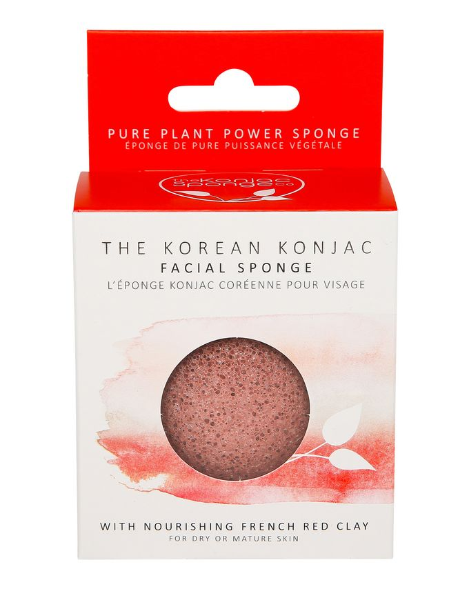 The Konjac Sponge Company Premium Eco-Friendly Facial Puff with French Red Clay