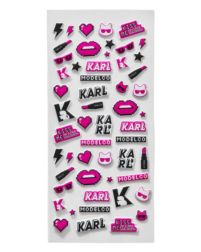 KARL LAGERFELD + MODELCO Limited Edition Puffer Stickers