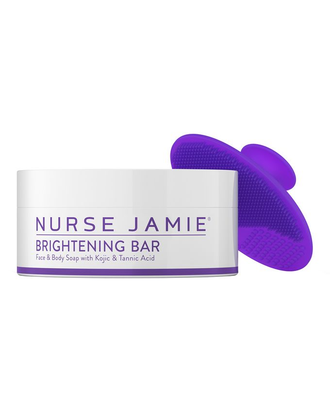 Nurse Jamie Brightening Bar with Exfolibrush Silicone Facial Brush