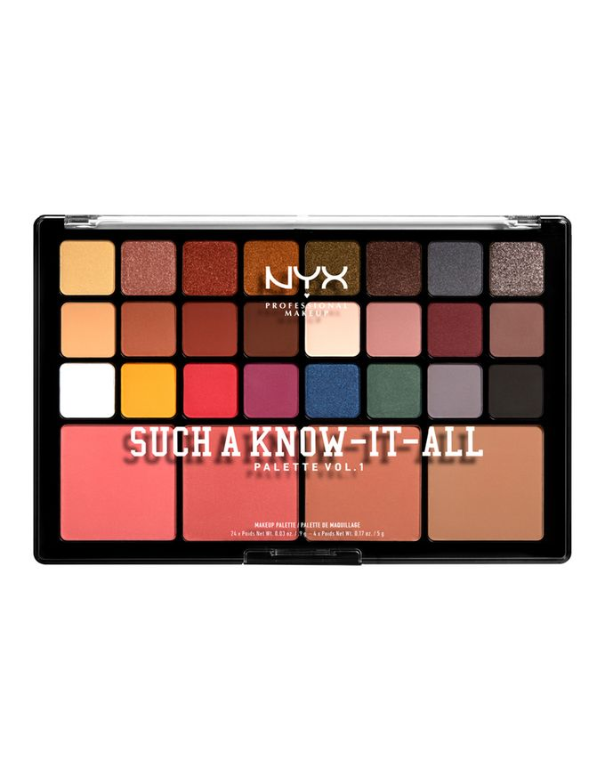 NYX Professional Makeup Such A Know-It-All Eyeshadow, Blusher & Contour Palette