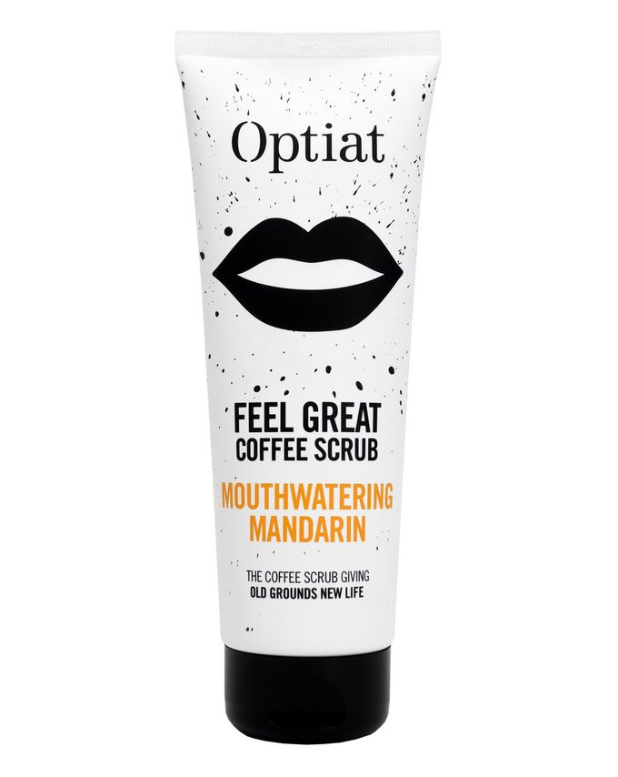 Optiat Feel Great Mouthwatering Mandarin Coffee Scrub