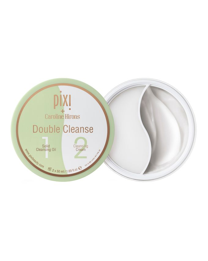 Pixi Pixi + Caroline Hirons Double Cleanse Solid Cleansing Oil + Cleansing Cream