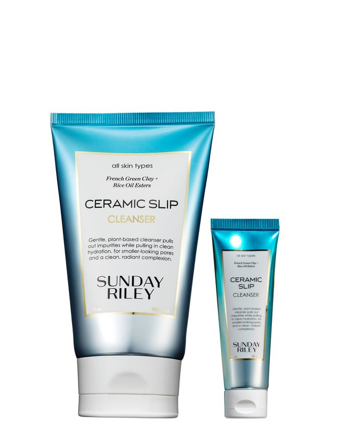 Sunday Riley Ceramic Slip Cleanser Home and Away