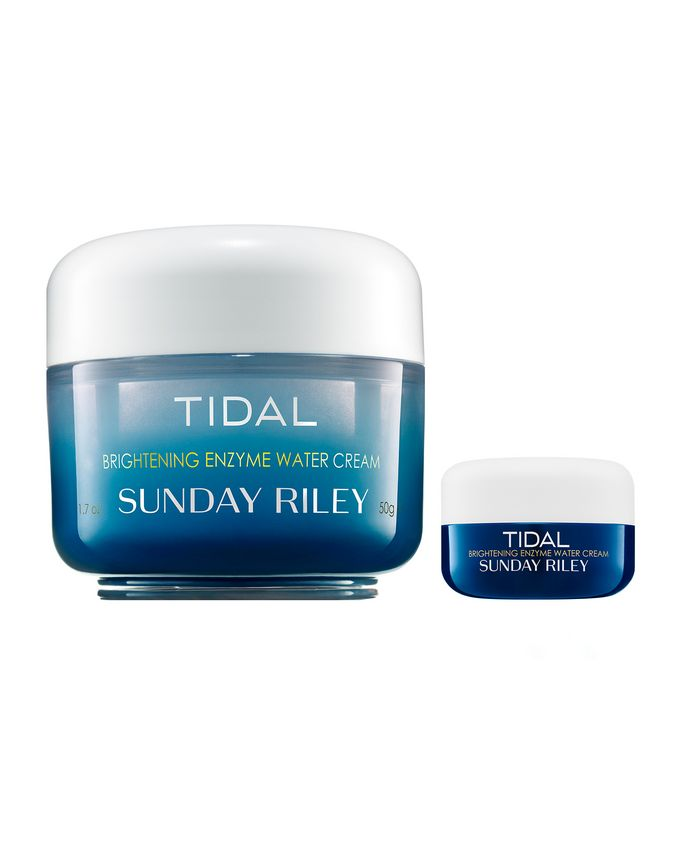Sunday Riley Tidal Brightening Enzyme Water Cream Little and Large