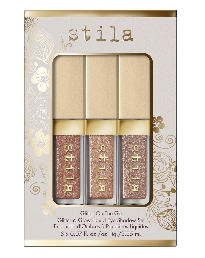 Stila Cosmetics Glitter On The Glow Liquid Eye Shadow Set