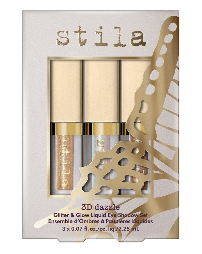 Stila Cosmetics 3D Dazzle Glitter & Glow Liquid Eye Shadow Set