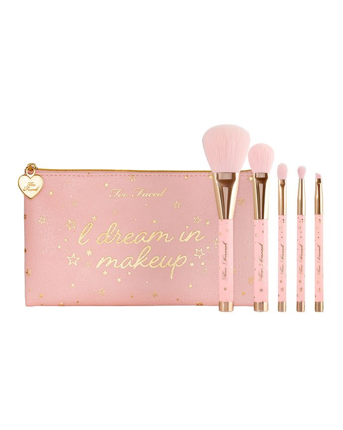 Too Faced Christmas Dreams Essential Pink Swan Brush Set