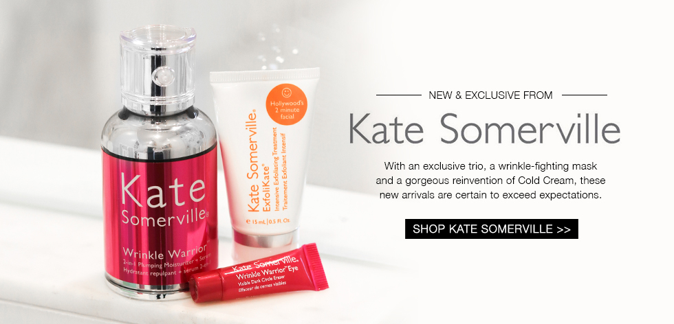 NEW & EXCLUSIVE from KATE SOMERVILLE