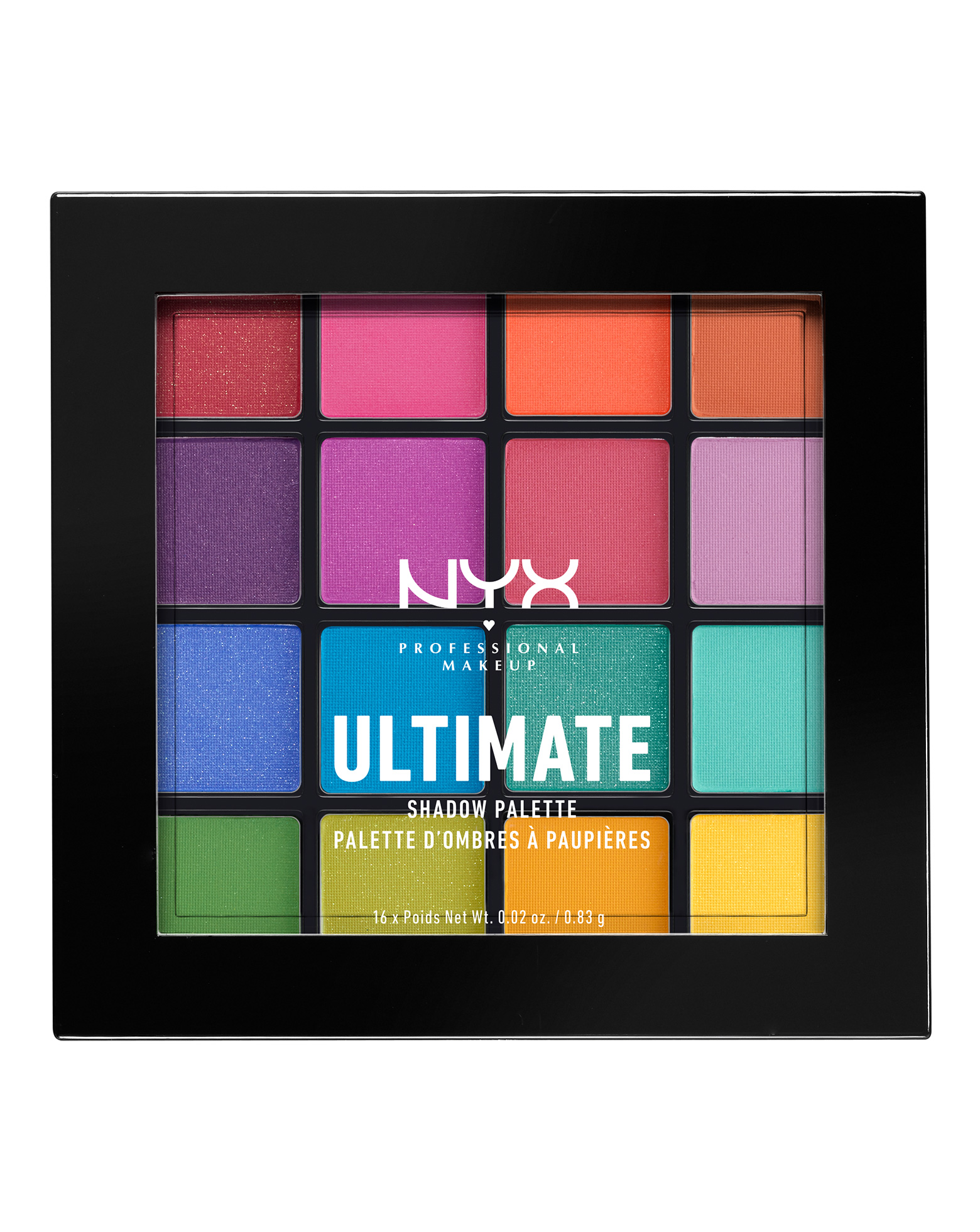 Ultimate Shadow Palette Brights By Nyx Professional Makeup
