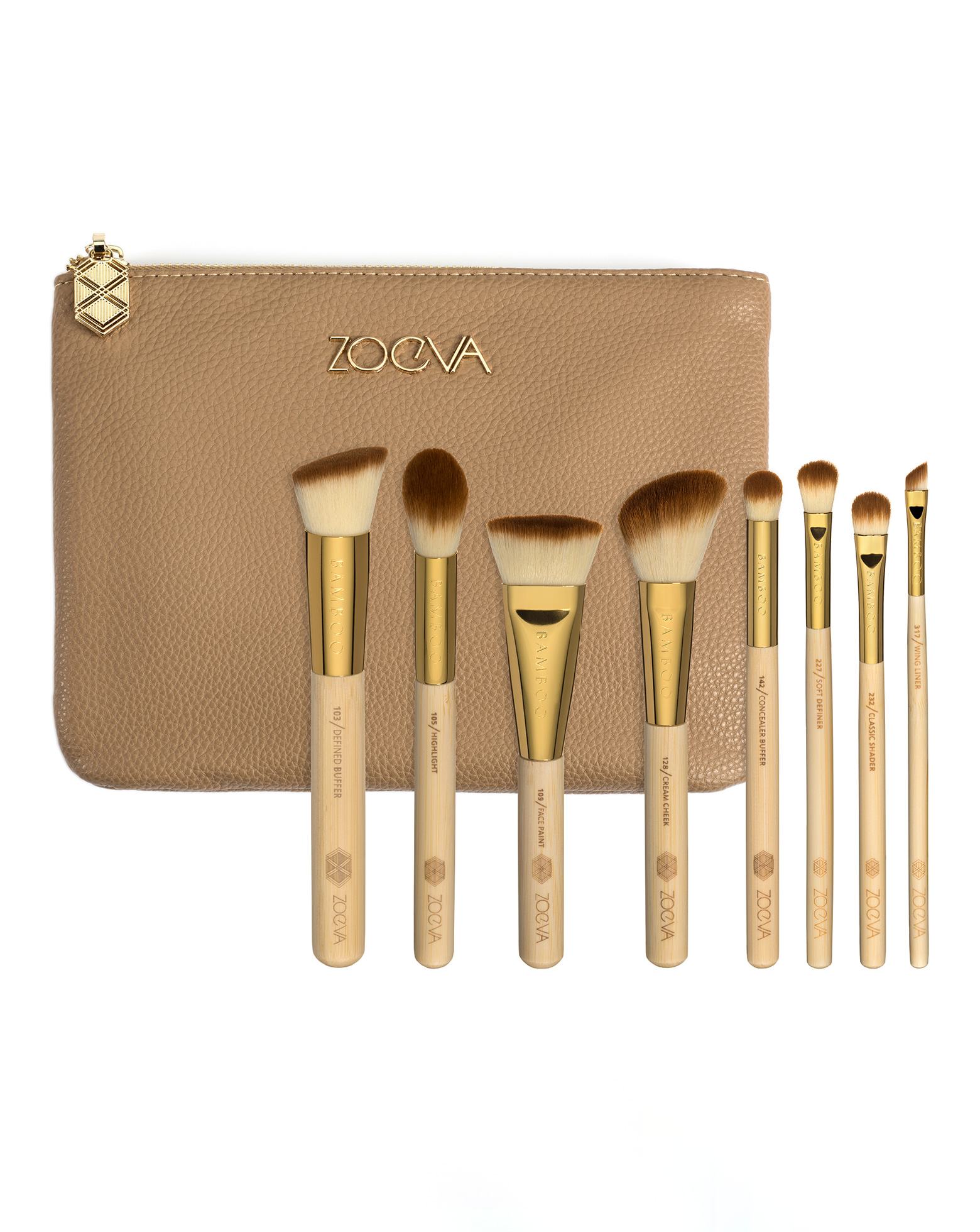 Bamboo Makeup Brushes: Bamboo Luxury Brush Set By ZOEVA